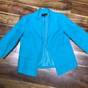 Baby blue linen Talbots blazer